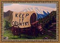 Keep it country, acrylverf op hout 60x100 cm